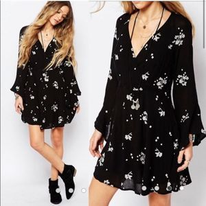 Free People Jasmine Embroidered Dress in Storm 2